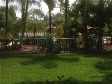 Fantastic 2/BR, 2 BA Pool VIew Condo Near Everything Vacation Rental View outside the rear lanai