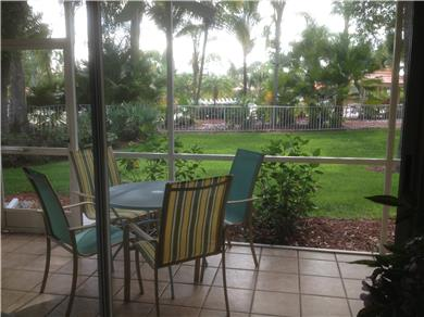 Fantastic 2/BR, 2 BA Pool VIew Condo Near Everything Vacation Rental Rear Lanai
