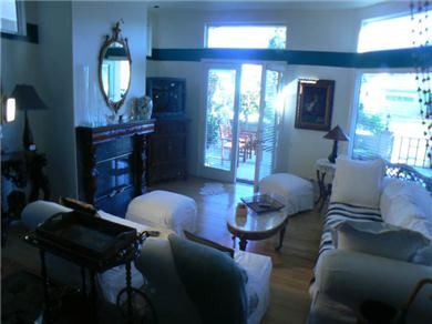 Huntington Seaside Villa - Surf City USA Vacation Rental Ground Floor Living Room