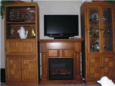 Pinnacle Port Resort Vacation Rental Living Room Entertainment Center