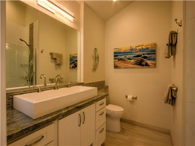 Wailea Elua Village Condo Vacation Rental Master bathroom has soaking tub/shower