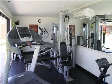 Wailea Elua Village Condo Vacation Rental Exercise room faces the ocean