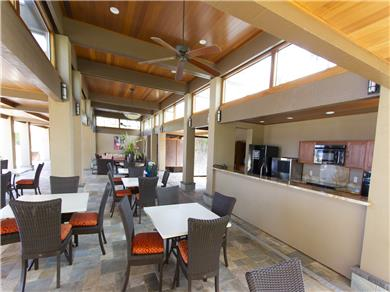 Wailea Elua Village Condo Vacation Rental Shaded pavilion with kitchen near main pool/ocean