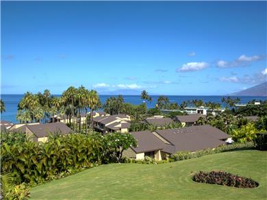 Wailea Elua Village Condo Vacation Rental Panoramic ocean views from all rooms.