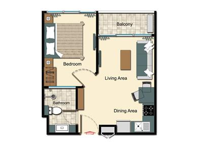 CITY GARDEN TOWER CONDOMINIUM LARGE 1 BEDROOM Vacation Rental