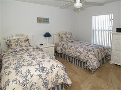 The Clubhouse at Somerset Vacation Rental Blue Twin Bedroom