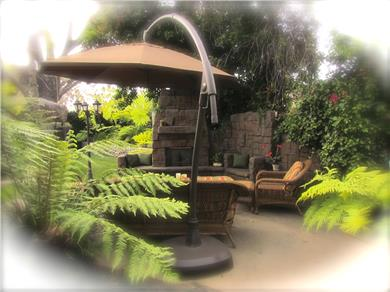 The Enchanted Manor Vacation Rental Private Patio