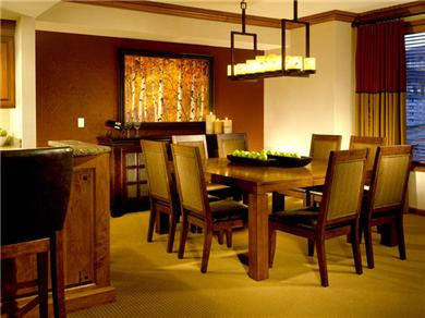 Sheraton Steamboat Mountain Villas Vacation Rental Our Dining Area (faces slopes) - Seats 8-10