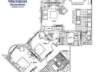 Sheraton Steamboat Mountain Villas Vacation Rental 2BR Spacious Floorplan - 1617 sq.ft.