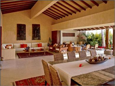 Casa del Agua Punta Mita Vacation Rental Living