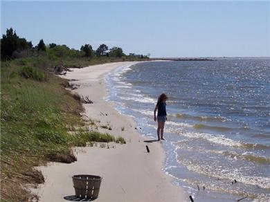 Nanticoke Beach, a waterfront Chesapeake getaway Vacation Rental Private white sand beach