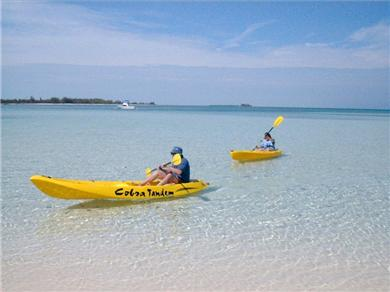 OCEANFRONT 3br  HOUSE SECLUDED SANDY BEACH, ANDROS BAHAMAS Vacation Rental Paddling in the bay