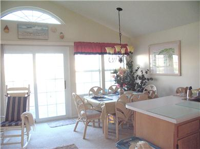 C-Shell Vacation Rental Dining area facing ocean