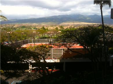 Ocean View Ka`anapali Alii #244 Vacation Rental Lanai View/Mountains &Tennis Courts