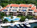 Porto Bello Marina & Villas Vacation Rental aerial shot of buidling-unit 2nd floor, far left